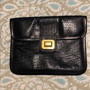 Juicy Couture 100% Buffalo Leather Clutch - Black